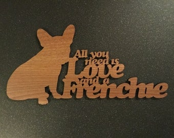 French Bull Dog Sayings Plaque