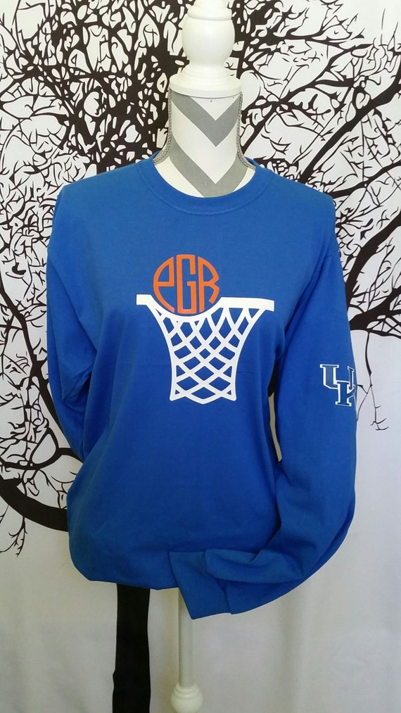 Long Sleeve Monogram Basketball Shirt By Jessicajosmononmore