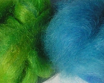 Dyed Mohair Roving