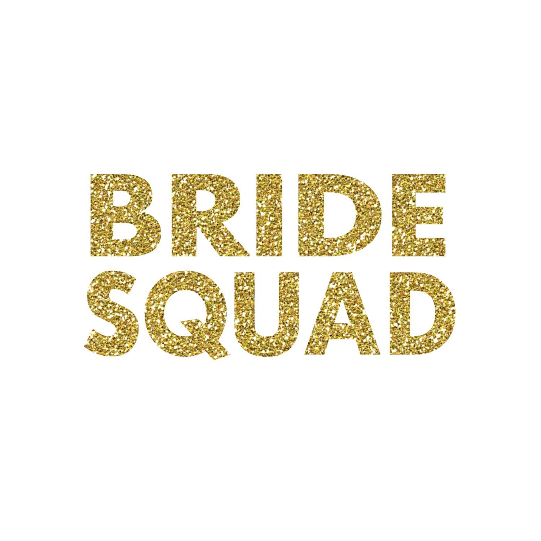 Bride Squad Iron On Vinyl Decal Glitter Iron On 5 Colors