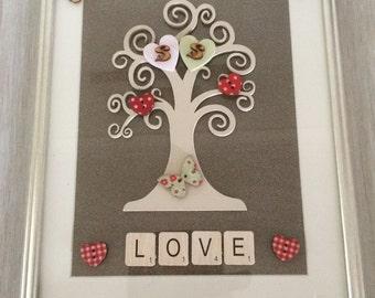 Love tree personalised, love, tree, Personalised gift.