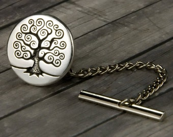 Tree of Life Tie Tack - Tree of Life Tie Pin - Mens Accessories - Mens Gift - Wedding - Gifts for Him - Mens Jewelry - Gifts for Dad - Tree