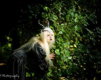 Dark Queen Gothic Horn Crown