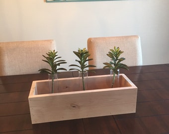 Rustic Wood Box / Wood Centerpiece / Flower Box / Wood Tray