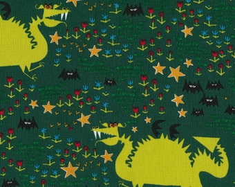 Cloud 9 Dragons by Ed Emberley's Happy Drawing Certified Organic Fabric - FQ - FBTY - 11.98 Yard