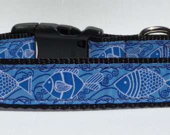 Fish martingale etsy for Fish dog collar