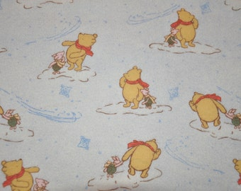 Retired!  One Yard of Winnie the Pooh 100% Cotton Flannel Quilt Fabric