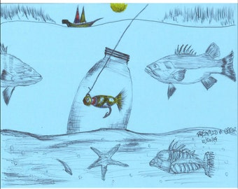 """Note to self! Meta Art Portfolio's The Unambiguous Life of the Reclamated Fisherman """"Print Addition"""""""