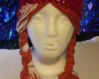 Frozen hats-  Anna hat- Elsa hat- Crochet infant hat- girl hat- Women's hat- Winter apparel