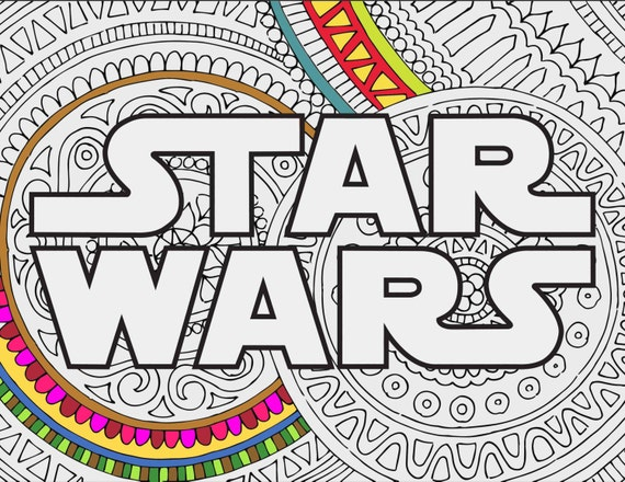 Star Wars Coloring Pages Star Wars Logo Printable Adult