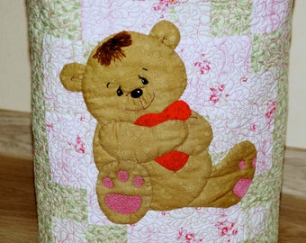 bag handmade// author's work //  patchwork// quilting //Baby Bear backpack