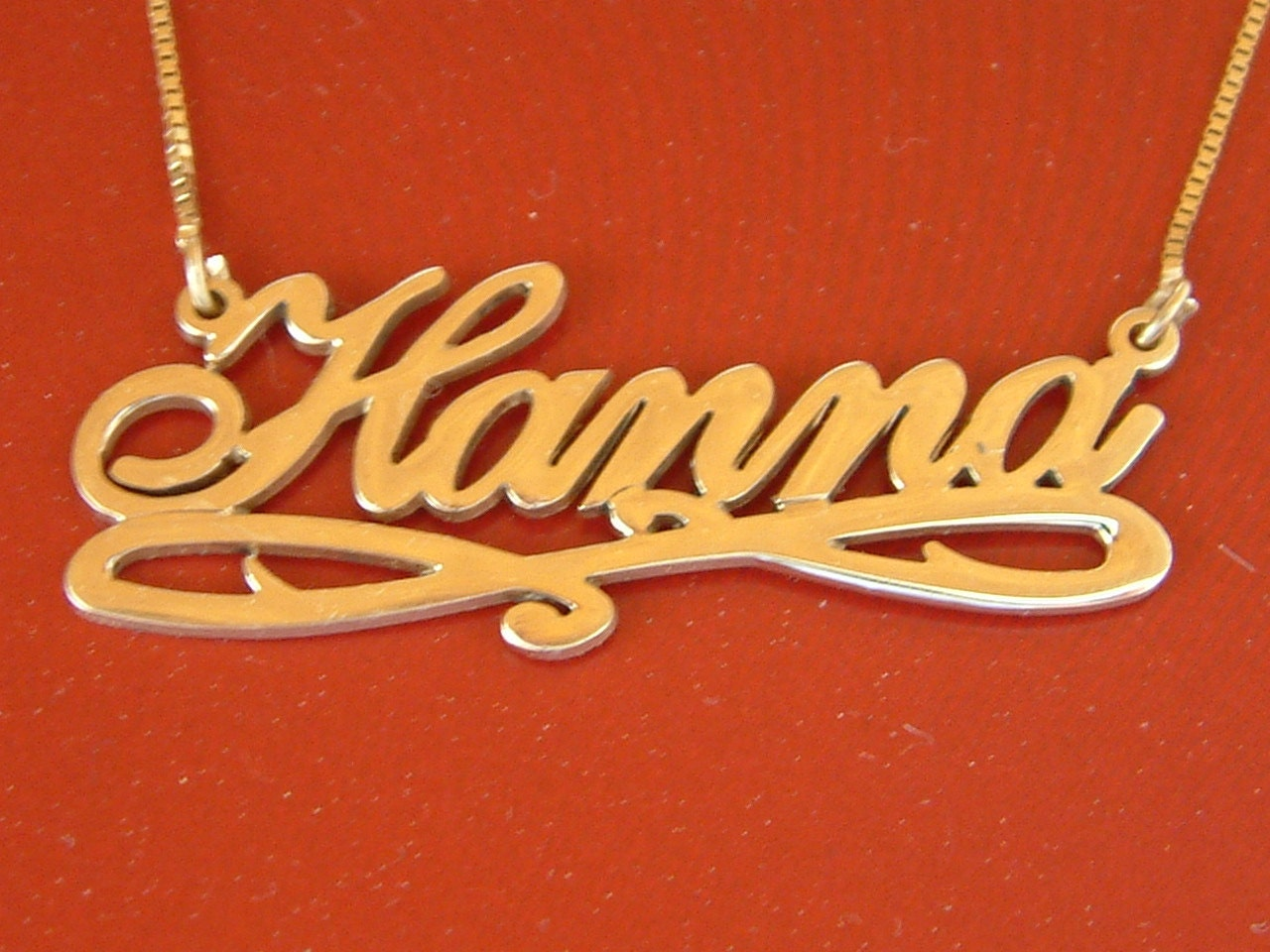 10k Name Necklace 10k Gold Name Necklace 10 ct Name Chain