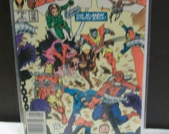 1984 Marvel Comics Marvel Super Heroes Secret Wars #5 in 12 Issue Series The X-Men Strike Back VG-VF Vintage Marvel Comic Book
