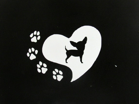 Chihuahua Vinyl Decal Car Decal Window Decal Chihuahua