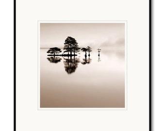 Black and white photography, North Carolina, Lake Mattamuskeet, framed photography, sepia print