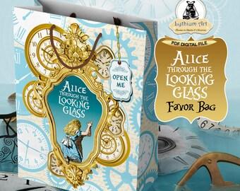Alice Through The Looking Glass Favor Bag - Alice in Wonderland - Alice in Wonderland Party - Alicia en el país de las Maravillas -Party Bag