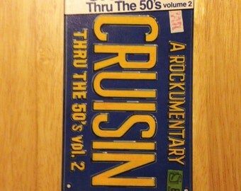 Vintage 1987, VHS Tape, Cruisin' Thru The 50's Volume Two (8689).  A Rockumentary by Simitar Entertainment.
