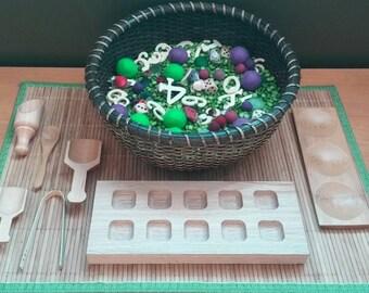 Math Themed Sensory Bowl, Kindergarten Math, Sensory Play, Base 10