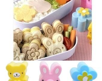 Rabbit Bear Flower sandwich cutter bento cutter bento accessories sandwich mold vegetable cutters bear mold rabbit mold