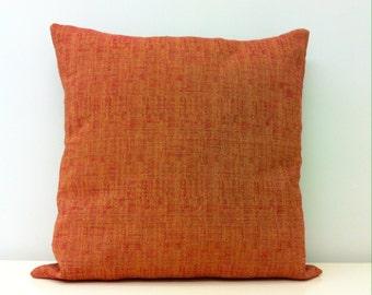 Mustard-Red Linen Pillow, Linen Pillow Covers, Boho Pillow, Linen Throw Pillows, Rustic Pillows, Decorative Pillow, Linen Cushion Covers