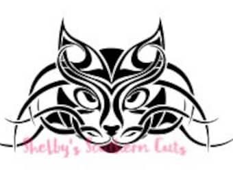 Tribal Cat SVG file