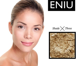 ENIU MINERAL FOUNDATION 100% Natural Shade Three (Olive)