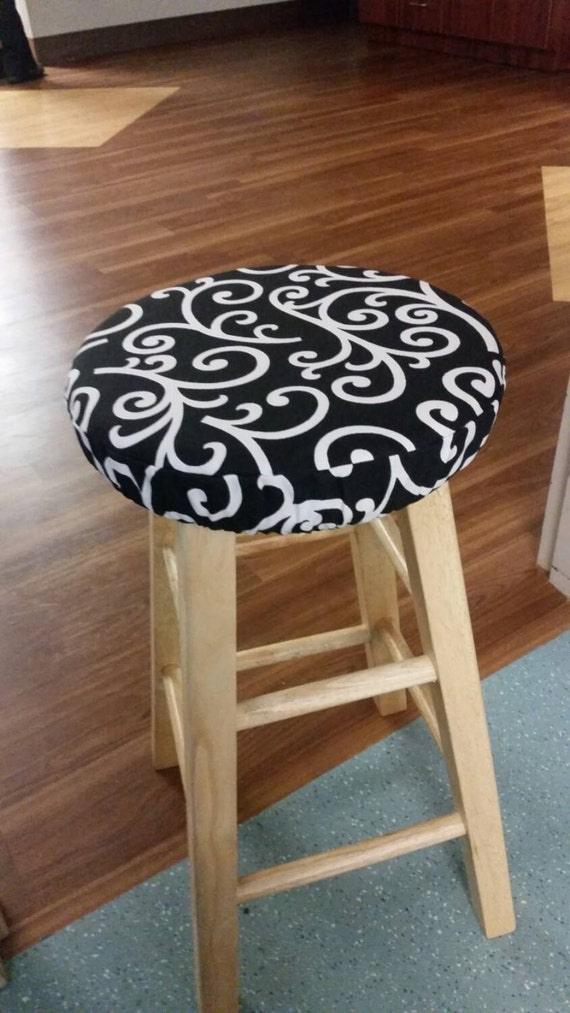 Round Padded Stool Cover Cushion With Elastic