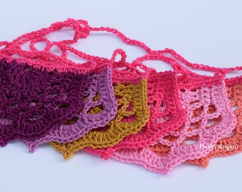 Doily Garland Bunting Warm Colors Half Doily's