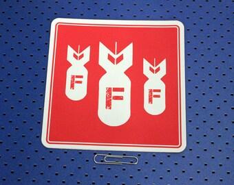 F-Bombs Bumper Sticker