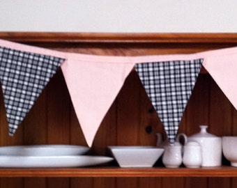 Pink and Black Bunting