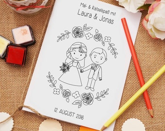 "Coloring book PDF ""Romantic"" gift wedding"