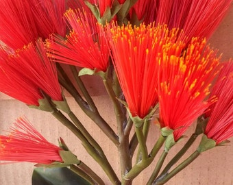 Hawaii Tropical Brush Broom Artificial Flower Bunch