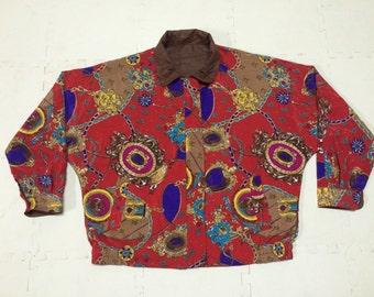 Vintage JOHANNES STRADA Reversible Silk Royalty Baroque Swag  Jacket