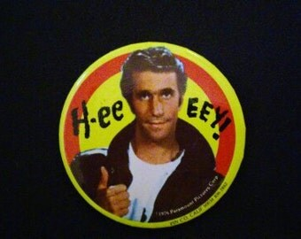 Vintage Fonzie Badge! Happy Days! Punk!