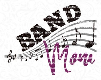 Band mom svg - band svg - marching band svg - band svg files - svg files - Band clipart