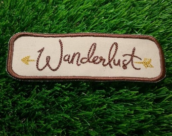 Wanderlust Adventure Patch Embroidered Travelling Badge Gap Year Summer Holiday