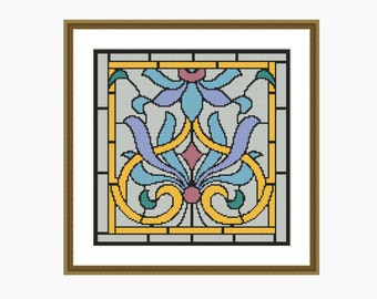 Cross Stitch Pattern, Modern cross stitch - NOUVEAU # 2 cross stitch pattern - Downloadable PDF