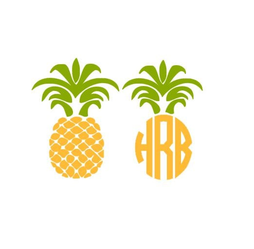 Download Pineapple Monogram Set SVG Studio 3 DXF EPS. ps and pdf