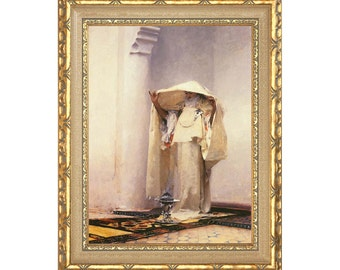 Fumee d'Ambre Gris John Singer Sargent Framed Canvas Art Print Painting Reproduction - Clearance Sale - Sizes Small to Large - M00386