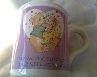 Hug Mug - Bears need Hugs -  Recycle it Save the Planet Valentine