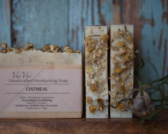 Oatmeal + Chamomile cold process soap