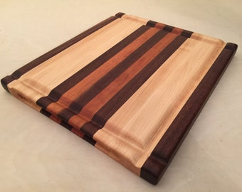 Large Cutting Board with Grooves