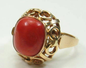 Ancient coral ring 585