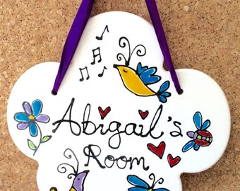 Personalised Bird Room Sign