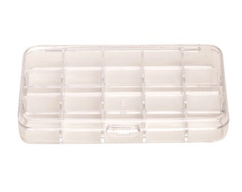 10 compartment organizer box clear plastic 3.9x5.9inch