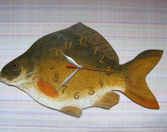 Carp Fish wall clock