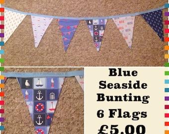 Blue Seaside Nautical Bunting