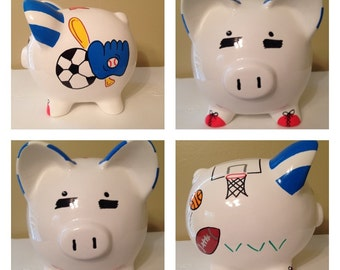Sports Theme Piggy Bank