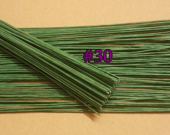 "100 Wire Stems--Gauge#30-- (Length 12"" X 0.3 mm) Floral Wire Flower Stem Artificial, Artificial Stems, Floral Stem, Green Wire Stems."