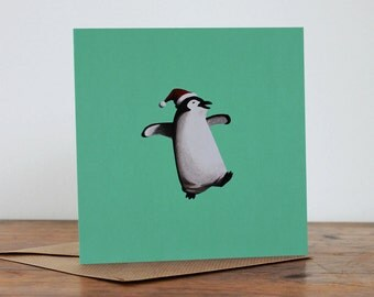 Christmas - 'Penguin' - Hand made card